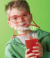 pvc pipe - HOT Novelty Amazing Silly flexible Straw Drinking Glasses Eyeglass Frames Pipe Food Grade PVC Funny party drinking straws
