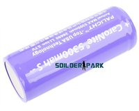 Wholesale 4pcs High Capacity PALIGHT Li ion V mah Protected Battery Purple Safety Durable Flashlight Battery Free Ship order lt no tr