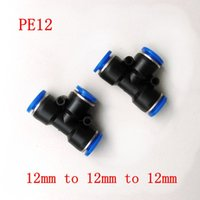 Wholesale 10pcs Pneumatic Air Fitting mm to mm to mm T Shape Quick Fitting Connector PE12