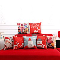 Wholesale Christmas Home Decorative Throw Sofa Cushion Cover Crown Xmas Pillow Case New