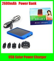 Wholesale Power Bank mAh Portable USB Solar Power Charger For Mobile Phone MP3 MP4 PDA Solar Charger
