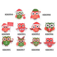 Wholesale 30PCs Christmas Style Cute Owl Shaped Holes Wooden Buttons Fit Sewing DIY Scrapbooking For Children