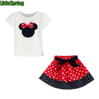 minnie mouse - Girl s Suits Tshirt Pants Skirt Desigs Sizes Y New Outfits Sets Outwear Minnie Mouse LZ T0224