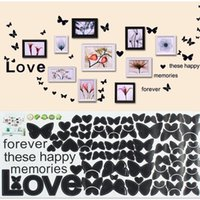 bedroom decorating photos - 1pcs Home Love Memory Favorite Butterfly Photos Wall Sticker Decorate Bedroom Stickers Simple Decoration Color