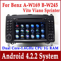 Wholesale Android Car DVD Player for Mercedes Benz Vito Viano Sprinter W906 w GPS Navigation Radio BT TV SD USB MP3 Audio Video G WIFI Navigator