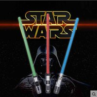 Wholesale 3pcs set star Wars Lightsaber LED Flashing Light Sword Toy Cosplay Weapons Can Mutual Percussion Sabers For Boys Action