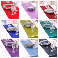 Wholesale Satin Table Runner Many Colors You Pick For Christmas Decor For Christmas Wedding Favor Romance Atmosphere New Elegant Edyge RUN