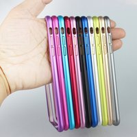 Wholesale Protect Cases Ultra thin Metal Aluminum Alloy Frame Bumper Case For Apple iphone Plus inch Slim Shockproof Mobile