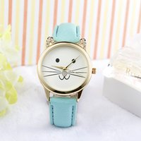 beautiful colleges - Small and beautiful temperament cute little kitty pattern belt watch college wind small fragrant wind female formloveyou