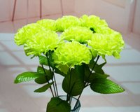 artificial carnations - piece Artificial carnations silk flower real touch carnation bouquet for part home graden decoration gifts color