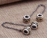 925 cadenas de plata esterlina auténtica plata y corazón de oro 14K cadena de seguridad de clip roscado perlas encantos brazalete europeo