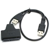 Wholesale Dual USB to SATA Serial ATA Adapter Cable For quot HDD Laptop Hard Drive SSD