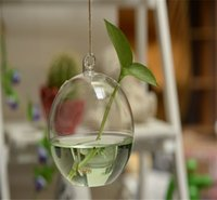 Wholesale lower Implement Suspension Type Transparent Glass Vase Creative Pastoral Hydroponic Plant Infusion Bag Or Bottle Terrarium Wedding Decor