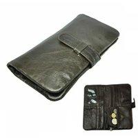 Wholesale New arrival men s wallets vintage design long male wallet genuine leather multifunction card holder man coin purse