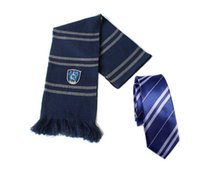 Wholesale 2014 Halloween Wearing Hot Harry Potter Ravenclaw Wool Knit Scarf Tie Wrap Soft Christmas Gifts For Men CQX