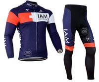 Wholesale 2015 Autumn and winter style Cycling jersey IAM long sleeve tops and long bib pants XS XL
