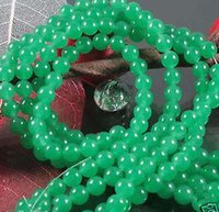 Wholesale cheap mm mm Green Jade Gemstone Round Loose Beads