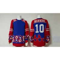 Wholesale Fashion Eli Manning Thematic Ugly Sweater Women s Sweater Hottest Men s Sweaters Pullover Sweater Football Players Hoodies for Cheap