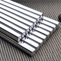 Wholesale Free DHL High quality stainless steel chopsticks square heat stainless steel chopsticks hotel restaurant stainless steel chopsticks