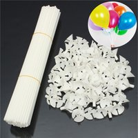 Wholesale 100pcs Party Festival Appliance Plastic Balloon Sticks and Cups