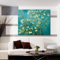 apricot tree pictures - Hot Sell Modern Wall Painting Van Gogh Apricot Flowers Tree Home Decoration Art Picture Paint on Canvas Pure hand painted No Fr