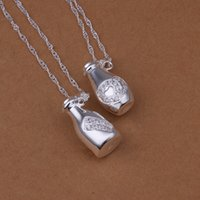 modern jewelry - CJH Factory Direct silver jewelry fashion jewelry exquisite modern women insets hanging bottle necklace sets S368
