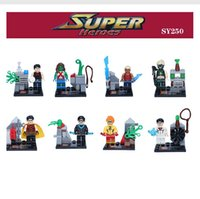 Wholesale 8pcs SY250 super heroes big movie young justice avengers superman Robin Nightwing Artemis minifigure characters building block