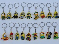 Wholesale Minion cm Doll D Key Chain Minions Keychain Key Ring The Cartoon Movie Despicable Me Action Figure Boys Girls Christmas Promotion Gift