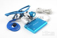 dental loupes - 2014 Dental Dentist Surgical Medical Binocular Loupes X mm Optical Glass Loupe LED Head Light Lamp Blue