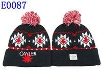 Wholesale cayler sons Beanie With pom pom Beanies Hip Hop Snapback Hats Custom Knitted Cap Snapbacks Popular hat cap Mix Order