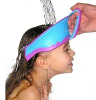 bath air cushion - Patent Smart Silicone Air Cushioned Adjustable Baby Waterproof Shampoo Cap Child Shower Hat Kids Bath Visor B4016