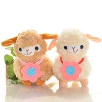 Cheap Hot Cute Little Sheep Plush Toy Doll Alpaca Animal Mud Horse Sheep Doll Pillow Wedding Gift Wholesale 20cm Color Sent At Random