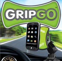 Wholesale 2015 GripGo Universal Holder Windshield Sticker Holders Mounts Stander For Car GPS Navigation Mobile Cell Phone Handsfree TV With Packages
