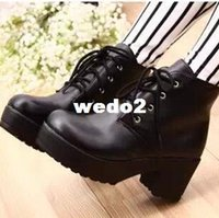 Wholesale New women boots fashion Arrival Vogue women motorcycle boots Platform Heel Shoes Ankle Boots for women Drop shipping