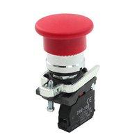 amp push - 240VAC Amp NC Terminals Red Mushroom Head Cap Reset Push Button Switch order lt no track