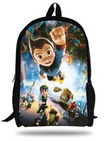 astro boy bag - 16 inch Mochila Escolar Menino D Cartoon Bag Astro Boy School Backpacks For Teenagers Casual Kids Boy School Bags