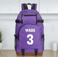 wade - new Dwyane Wade basketball sports bag shoulder bag five colors mochila bag backpack large capacity