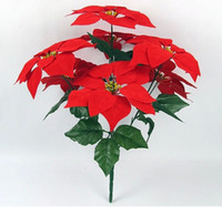 artificial flowers poinsettia - 2015 Wedding Bouquet Bride Bouquet poinsettia Artificial Flower for Wedding Decorations wedding flower Runners shipping free