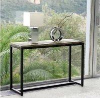 Esportazioni europee di antico in legno massello ferro battuto lato stile tavolo LOFT Tavoli R4 Console