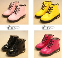 Wholesale 2015 child leather boots female child martin boots boys shoes single shoes little girl spring baby boots fashion boots PBC6203