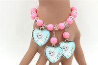 disney wholesale - Frozen Jewelry Set Necklace Bracelet Earrings Elsa With Anna Disney Animated Christmas Gift