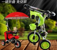 baby ride ons - 2015 Newest Edgar folding child tricycle baby bicycle trolley bike tricycle Folding tricycle
