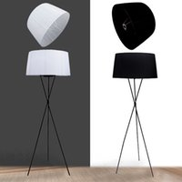 Wholesale 2014 G5 V fabric LED floor lamp brief modern classic floor lamp black red white yellow EMS