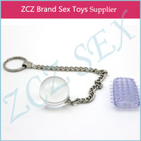 Wholesale ZCZ Glass Toy And Cock Ring High Quality Dildo Anal Plug Sex for Women Glass Geisha Ball DX243