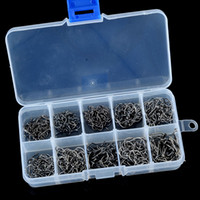Wholesale 1000Pcs box Size High Carbon Steel Circle Owner Fishing Hooks Set Freshwater Fishhook Sets Strong Fishing Hook