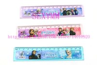 Wholesale set Cute cartoon ruler cm straight ruler students gift