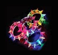 Wholesale Led Light Up Party Blinking Flashing Spike Bracelet Wedding Bar Rave Blinking Flashing Light gift World Cup Carnival Necklace Toys