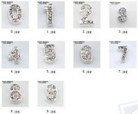 assorted glass pendants - Assorted numbers crystal designs floating charms for glass memory living floating locket pendant Valentine gifts FHY215