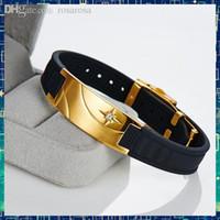 Gros-B90D008 antifatigue ion infrarouge énergie scalaire bande de puissance bio d'or benifits de santé caoutchouc Bracelets sportives magnétiques