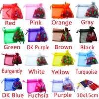 Wholesale 100pcs bag Selection Colors Jewelry bag x15cm organza jewelry packaging display Jewelry Pouches